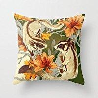 NicholasCGShopOnline C4558F Cotton Linen Decorative Throw Pillow Case Cushion Cover Sugar Gliders 18