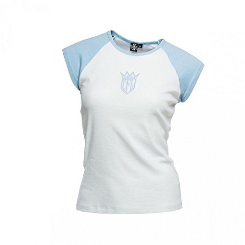 West Coast Choppers Damen T-Shirt CFL Baseball Capsleev, Farbe:white/blue;Größe:XL