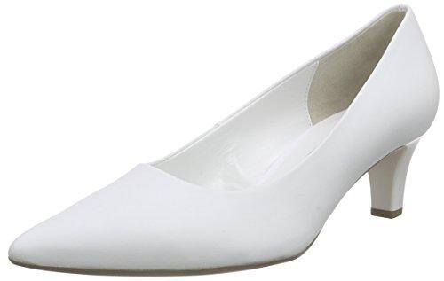 Gabor, Escarpins Femme Blanc (21 weiss+Absatz)