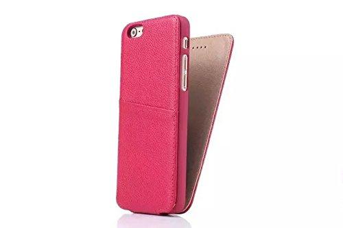 Magnetische Verschluss-Design Vertikale Flip Case, Luxus Premium Echt Leder Schutzhülle für IPhone 6 Plus & 6s Plus ( Color : Black ) Rose