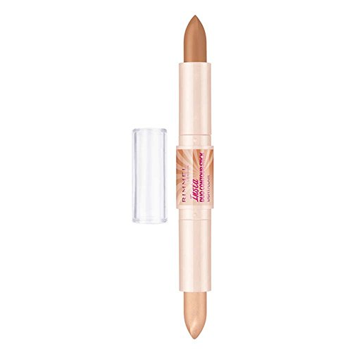 Rimmel London Insta Duo Contouring Stick, Correttore Stick 2-in-1 per Illuminare e Scolpire il Viso, 100 Light, 26.5 g