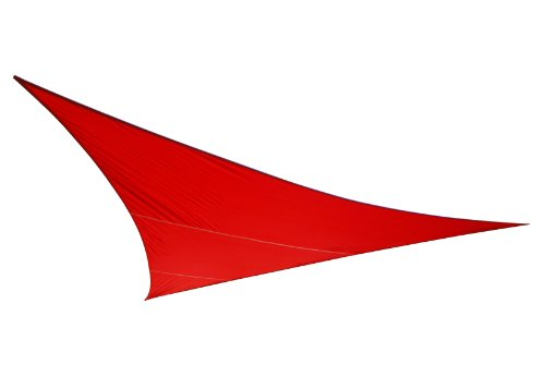 Voile d'Ombrage Rouge Triangle 3,6m - Imperméable - 160g/m2 - Kookaburra