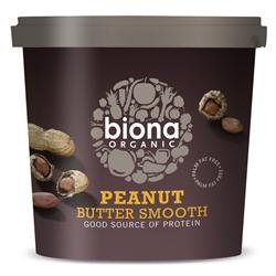 Biona Organic Smooth Peanut Butter 1kg (Case of 6)
