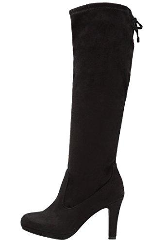 Anna Field Boots High Heel Stiefel Damen in Schwarz - Langschaft Damenstiefel mit Absatz, 38