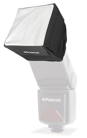 Polaroid Mini Universal Studio Soft Box Flash Diffuser for Canon EOS, Nikon, Olympus, Pentax, Panasonic, Sony, Sigma, & Other External Flash Units (8.9 cm x 8.9 cm Screen)