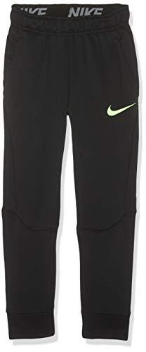 Nike Jungen B NK Dry Taper FLC Pants, Black/Lime Blast, XS - Blast Bekleidung