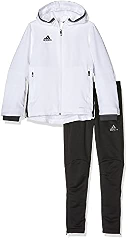 adidas Kinder Sportanzug Präsentationsanzug Condivo 16, White/Black, 128,