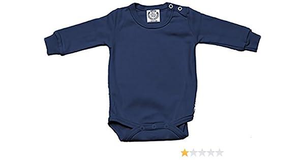 100/% cotton with shoulder poppers /& Lycra cuffs; Dark Blue shade Baby Full sleeve bodysuit NAVY BLUE