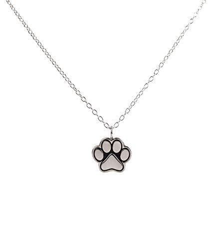 SIX Damen Halskette in 925er Sterling Silber, Gliederkette mit Hundepfote als Anhänger, Accessoire für Hundeliebhaber (386-319) (Thomas Und Seine Freunde Kostüm Kind)