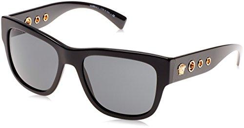 Versace 0ve4319 gb1/87, occhiali da sole uomo, nero (black/gray), 56