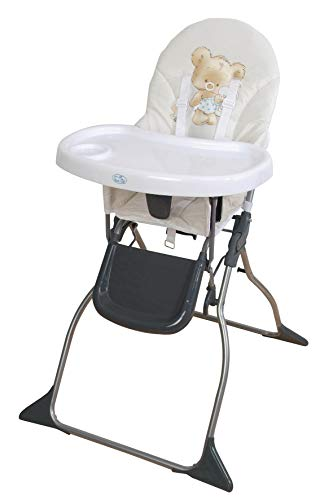 Trona para bebe plegable,bandeja extraible,modelo osito beig, silla bebé.DE REGALO BIBERON