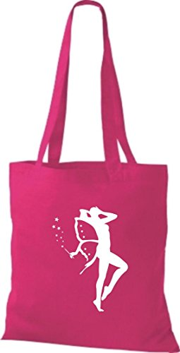 Pochette crocodile elfes trolls ange nain coton sac à bandoulière, sac de plusieurs couleurs Rose - Rose