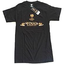 Camiseta UEFA Europa League Final Bucarest 2012 OFICIAL Negra. Oferta (L)