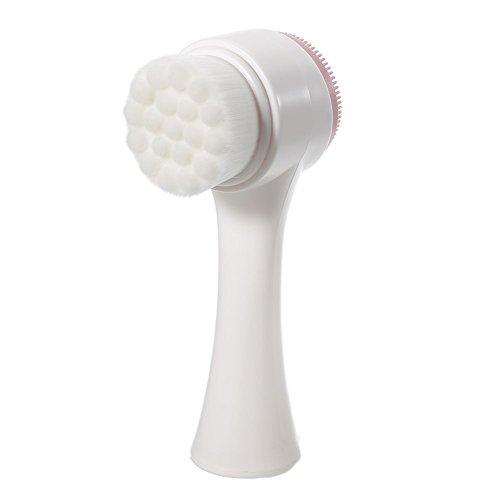 Gesichtsreinigungsbürste, Doppelkopf-manuelle Silikon-Gesichts-Reinigungs-Massage-Werkzeug für Frauen-Damen, großes Geschenk (zwei Seiten)