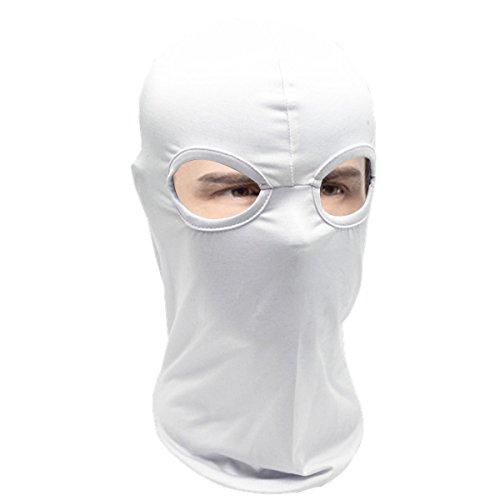 Outdoor-Sommer Motorrad Doppelloch atmungsaktiv cs Kopf Hut staub- Balaclava Kapuze weißer Maske Helm - Fußball-helm-maske