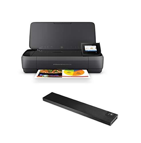 HP OfficeJet 250 Mobile Tintenstrahl-Multifunktionsgerät inkl. Drucker-Batterie (A4, 3-in-1, Drucker, Kopierer, Scanner, USB, WLAN)