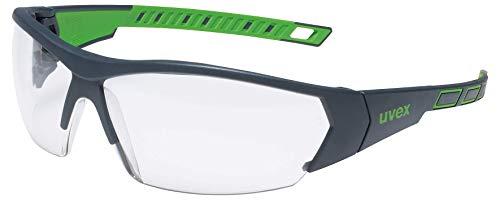uvex i-Works Schutzbrille - Kratzfeste & Beschlagfreie Arbeitsbrille - 100% UV-400-Schutz - Grün/Transparent