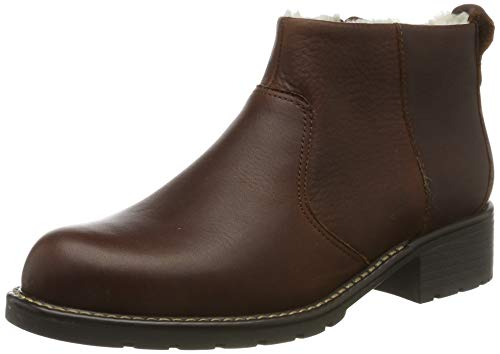Clarks Women's Orinoco Snug Biker Boots, Brown British Tan Lea, 4.5 UK