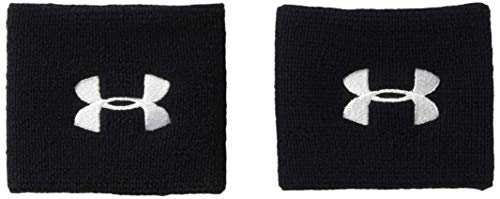 Under Armour UA Performance Wristbands, Polsini Uomo, Nero (Black/White), Taglia unica