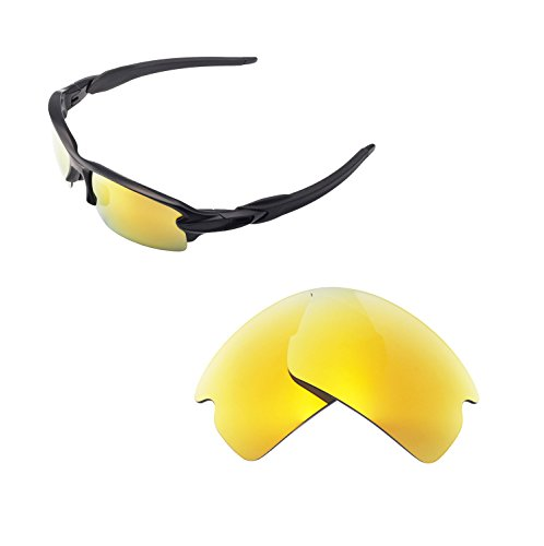 1060dbfb5e Walleva Replacement Lenses For Oakley Flak 2.0 Sunglasses - Multiple  options available (24K Gold -