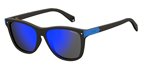 Polaroid Mirrored Wayfarer Women's Sunglasses - (PLD 6035/S N9P 565X|56|Blue Color) image