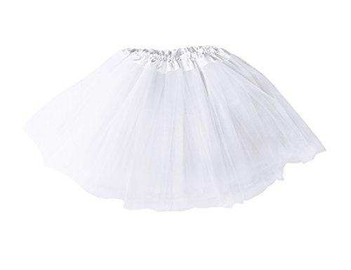 Mangotree Mädchen Tütü Minirock Organza Pettiskirt 3 Layers Petticoat Tanzkleid Unterrock Perfekt für Fasching