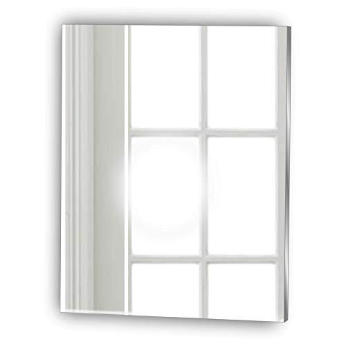Frameless Rectangle Shaving Glas Look Acrylic Mirror