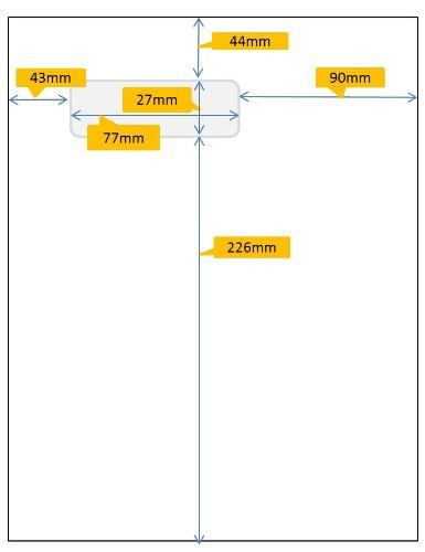 Avery Stickn'go 500 Feuilles avec Etiquette Intégrée pour Facturation - 77x27mm - Compatible Prestashop (L7984)