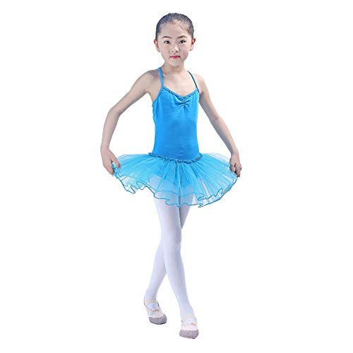 Kinder Mädchen Spaghetti Trikot Kleid Ballett/Tanz/Gymnastik Tutu Rock Dancewear Kostüm