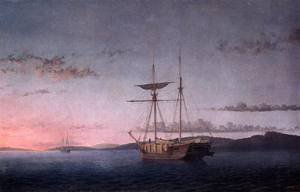 gfm-painting-peinture-lhuile-reproductions-de-lumber-schooners-at-evening-on-penobscot-bay-1860-pein