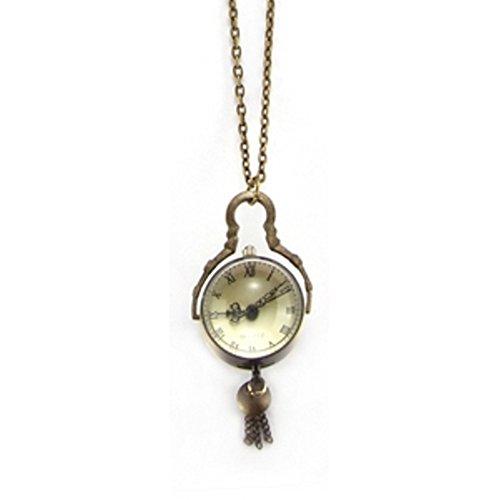 Antikgoldton erhabene funktionierende Zinn-Legierung-Uhrenanhänger-Halskette - Uhranhänger misst ca.. 2,5 x 4,5 cm ausgezeichnete Qualität kommt verpackt