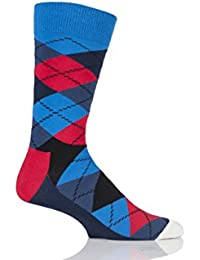 Hommes et Dames 1 Paire Happy Socks Argyle en coton peigné Chaussettes