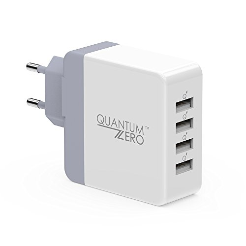 QuantumZERO WalMATE USB Wall Charger Adapter for all phones and tablets (4 Ports 40W)