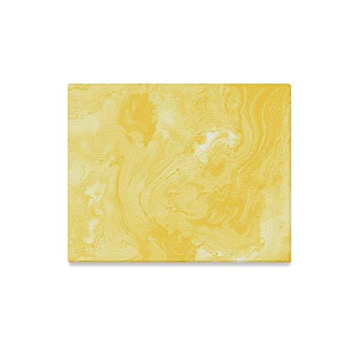 JOCHUAN Wandkunst Malerei Dekorative Marmor Textur Gelbe Farbe Abstrakte Drucke Auf Leinwand Das Bild Landschaft Bilder Öl Für Zuhause Moderne Dekoration Druck Dekor Für Wohnzimmer (öl-farbe Gelb)