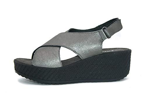 ENVAL SOFT Sandalo Donna MOD. 32915 Carbone 40