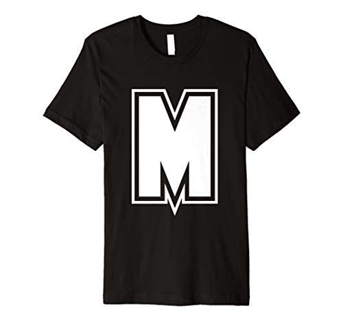 (Buchstabe M Alphabet T-Shirt)