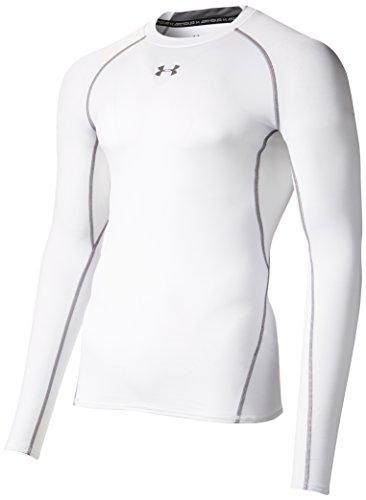 Under Armour Herren Unterhemd HeatGear Armour, Weiß (Weiß/White), Gr. L (Herstellergröße: LG)