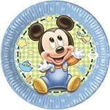 kit festa baby topolino,piatti baby topolino,24 piatti baby topolino,24 bicchieri,40 tovaglioli,1 tovaglia