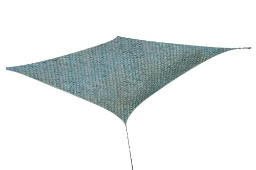 Ikumaal Sonnensegel 2.35 m x 4.00 m HDPE für Ihren Garten, Sonnenschutz, Carport, Terrasse, Windschutz, Sichtschutz oder Sandkastenabdeckung SS02