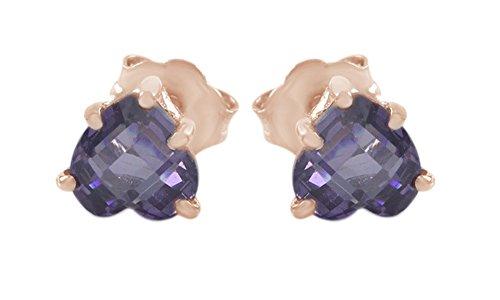 AFFY Unisex Mujer  oro 375  10 ct Rosa oro corte heart    alejandrita