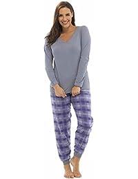 Femmes Tom Franks ImpriméÀ Carreaux Hiver Pyjama Long Pyjama Pyjama