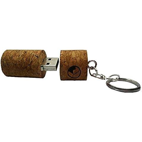 Cosanter Memoria USB 2.0 con Llavero de Diseño de Tapón del Vino