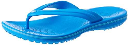 Crocs Unisex-Erwachsene Zehentrenner Zehentrenner Crocband Flip, Blau (Ocean/Electric Blau), 39-40 (Herstellergröße: M7/W9)