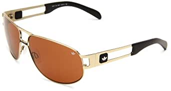 Adidas Conductor Lo AH37 30 6051 Shiny Gold et Brown lentilles lunettes de soleil