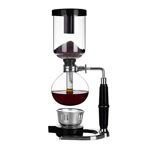 Siphon Kaffeemaschine Set Vakuumkaffeemaschinen 5-Tassen Siphon Coffee Pot zum Aufbrühen von Kaffee und Tee mit verlängerter Griff-Tisch-Glas-Kaffeemaschine Tropfkaffeemaschine DiyArts - Vakuum Glas Kaffeemaschine