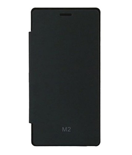 RealDealz Premium Hot Pressed Flip Book Cover Case For Gionee M2 Black  available at amazon for Rs.165