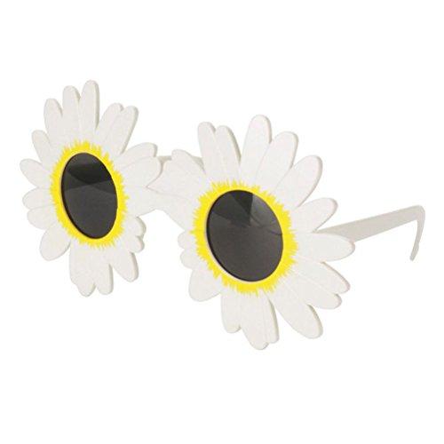 BESTOYARD Blumen Sonnenbrille Hawaiian Hula Fancy Dress Up Kostüm Zubehör Gänseblümchen Daisy Brille