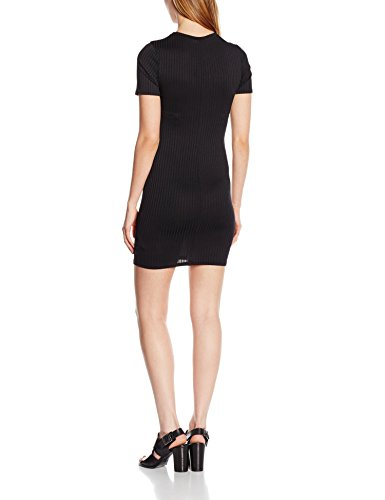 New Look Rib Half Sleeve, Robe Femme Noir - Noir