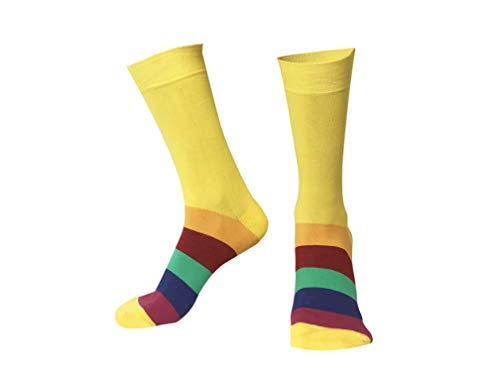 Calcetines amarillos hombre de algodón orgánico