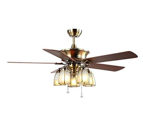 Marcus R Caveggf Deckenventilator 52 Zoll 5 hölzerne Blätter 5 E27 Lampenfassungen Ferndrehzahl kann vorwärts und rückwärts Sein EIN Jahr Garantie - 5 Blatt 52